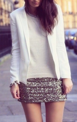 skirt gold sequins glitters cool pretty