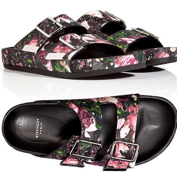 givenchy shoes floural slides