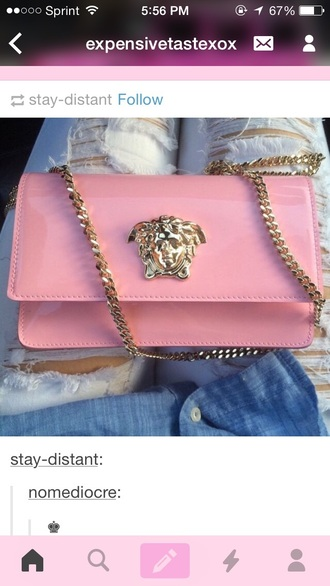bag clutch pink bag shoulder bag