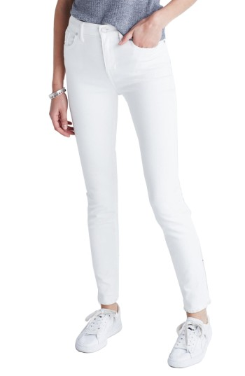 Madewell 9-Inch High-Rise Skinny Jeans (Pure White) | Nordstrom
