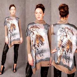blouse oversized sweater asymmetrical dress printed top oversized cardigan