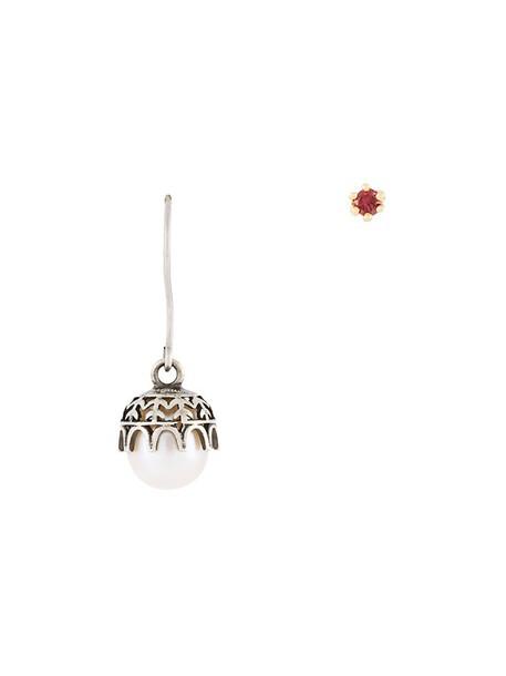 IOSSELLIANI women earrings gold silver grey metallic jewels