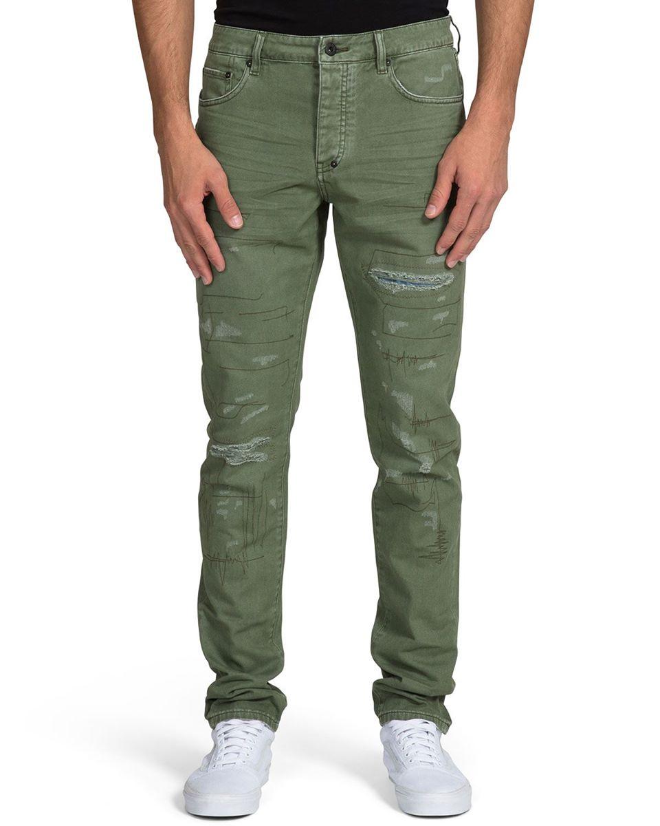 Men's Ripped Stitched Chino Pants