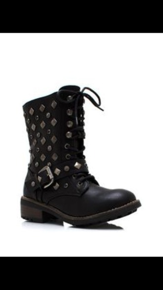 shoes combat boots bejeweled boots