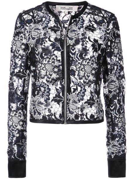 Dvf Diane Von Furstenberg jacket sheer women lace black