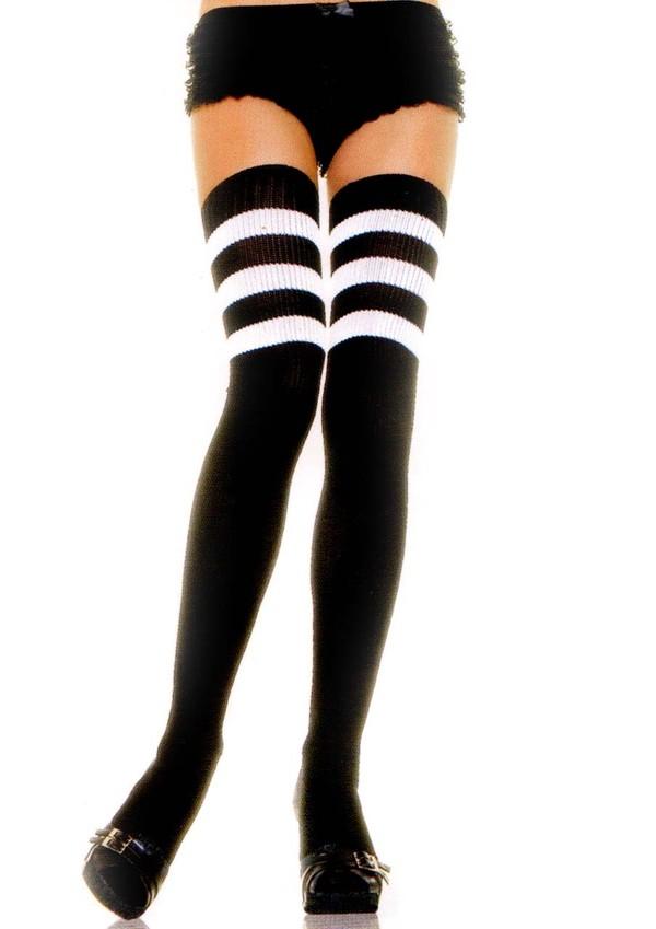 underwear striped socks high socks