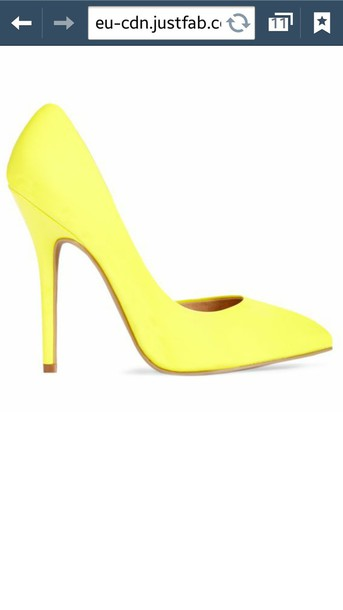 shoes justfab yellow shoes fluorescent yellow fluorescent color