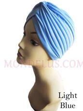 hat,mondelusfashion,blue turban,chemo hat,hair loss hat,mondelus.com,turban,headwrap,headpiece,headband