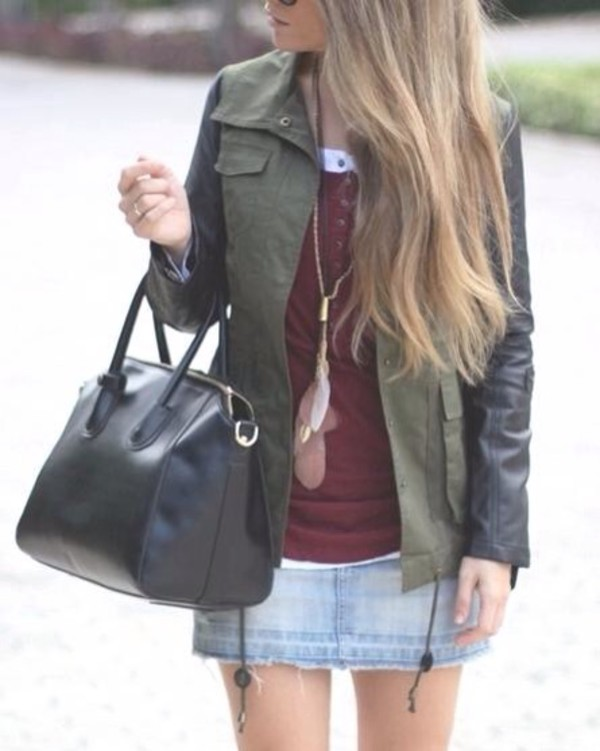 jacket parka le athée leather jacket fall outfits