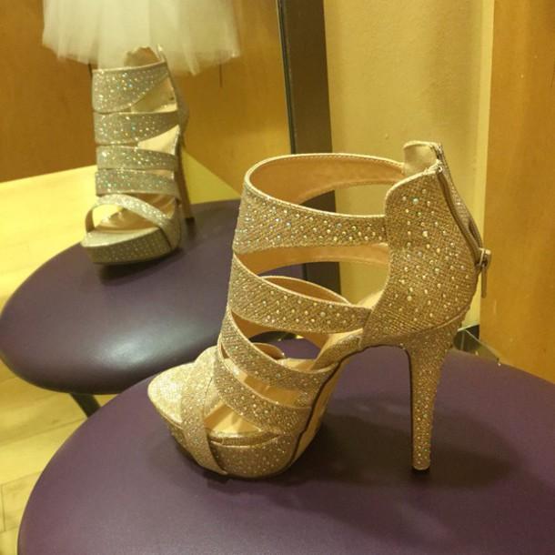 shoes gold heels jacket