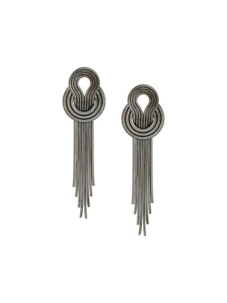 Lara Bohinc metal women earrings grey metallic jewels