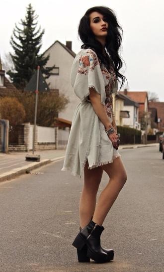 dress bohemian gypsy linen