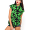 Motel addison sleeveless shirt in palm leaf green