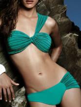 Green One Shoulder Ruffled Two Piece Bikini Swim Suit -  Milanoo.com