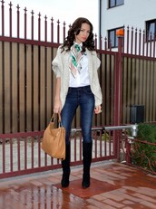 my silk fairytale,sweater,shirt,jeans,shoes,bag,scarf,jewels