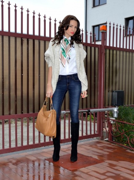 my silk fairytale sweater shirt jeans shoes bag scarf jewels