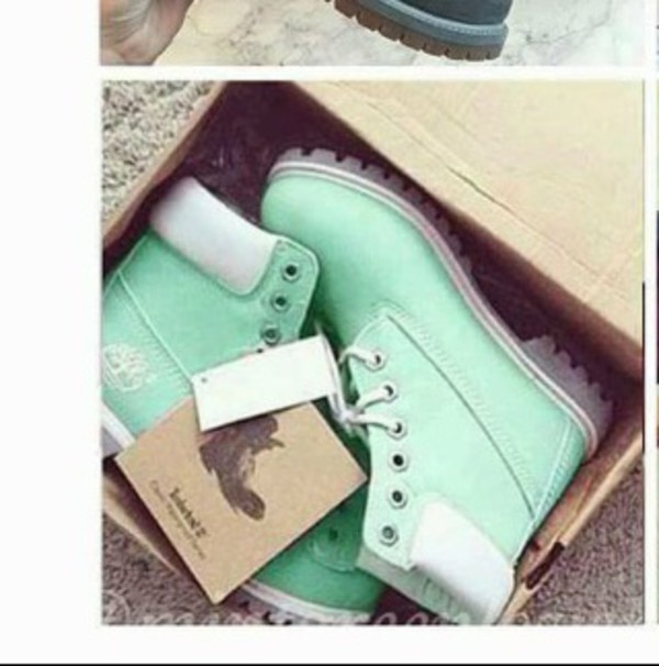 shoes mint green shoes mint timberlands boots flat boots