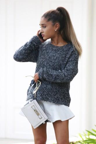 sweater skirt ariana grande purse bag