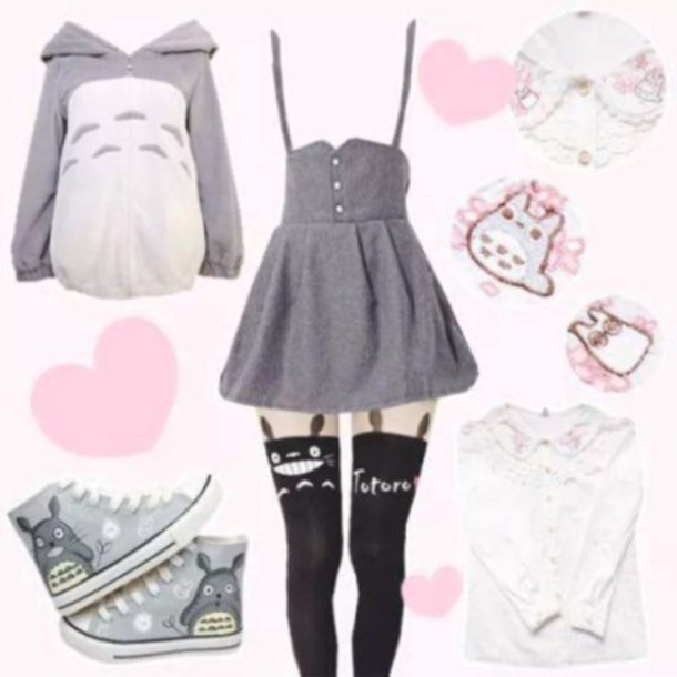 Dress Anime Totoro Cute Lovely Lolita Kawaii