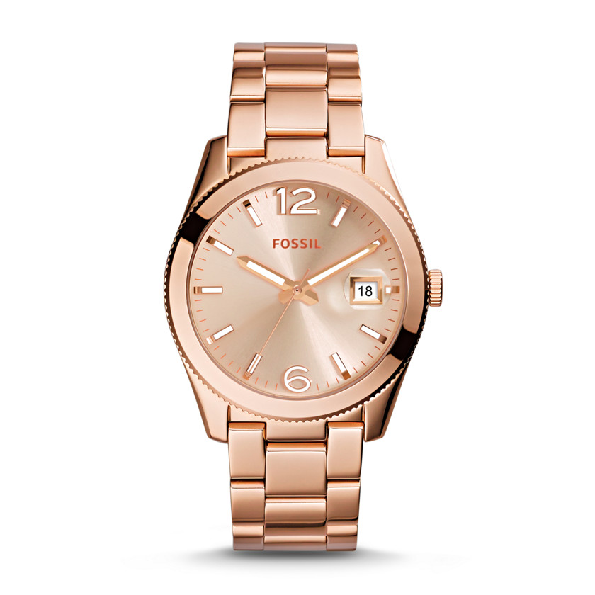 Perfect Boyfriend Three-Hand Date Stainless Steel Watch - Rose