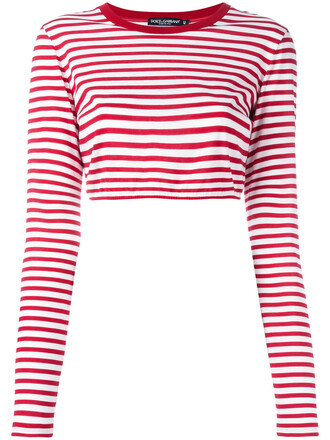 top cropped women cotton red
