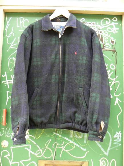 sweater coat jacket vintage cotton ralphlauren tartan