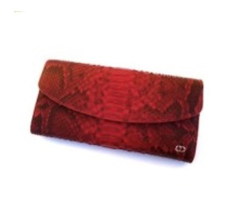 bag michael snake print red leather bag gold