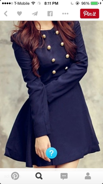 dress navy buttons