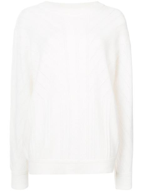 top women white knit
