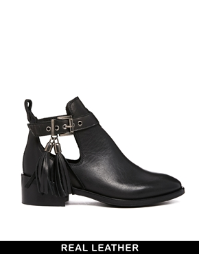KG Kurt Geiger | KG by Kurt Geiger Steep Black Cut Out Ankle Boots at ASOS