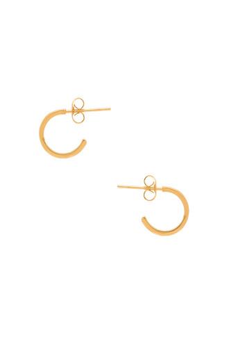 mini earrings hoop earrings metallic gold jewels