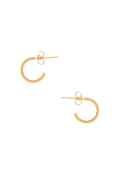 gorjana Taner Mini Hoop Earrings in gold / metallic