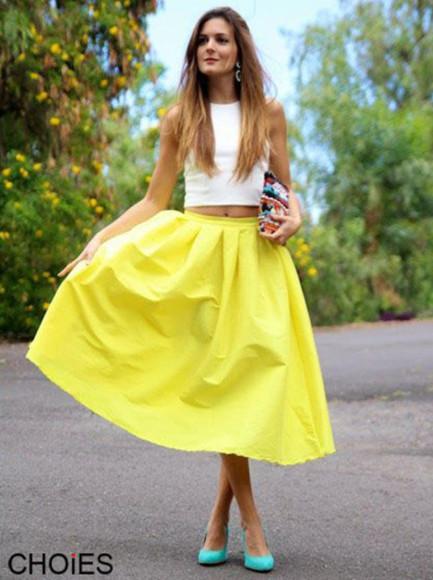 neon skirt midi skirt