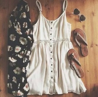 dress cardigan sunflower summer spring hippie indie boho tumblr weheartit white sunglasses sunglasses