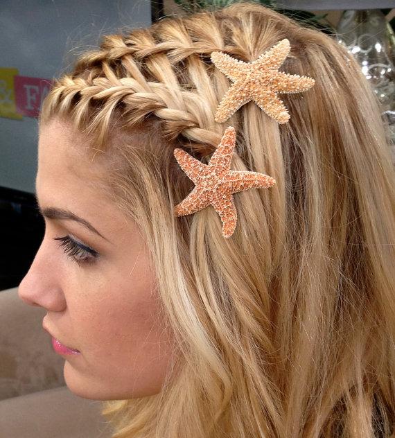 Starfish Hair Pins Beach Hair Accessories By