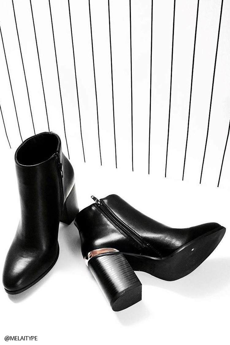 3309b8df3 Faux Leather Ankle Booties