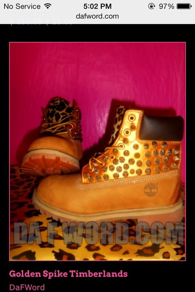 shoes leopard gold timberlands boots spikes silver