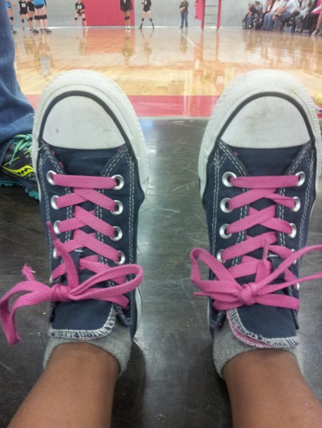 shoes pink navy converse