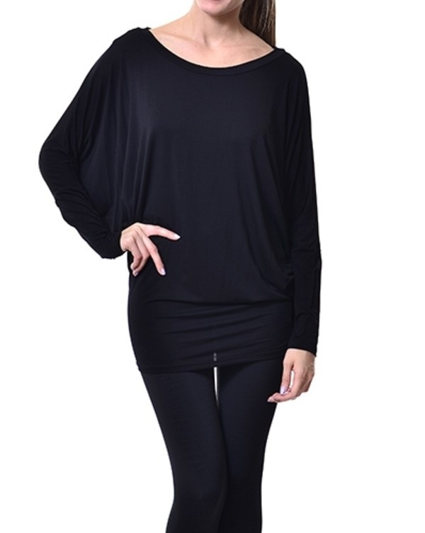 dress dolman leggings batwing tunic usa wellmade top black dress black top boatneck elegant sexy sweater