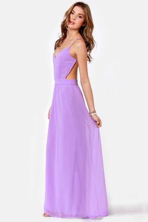 Sexy Backless Dress - Lavender Dress - Maxi Dress - $51.00 ($50-100) - Svpply