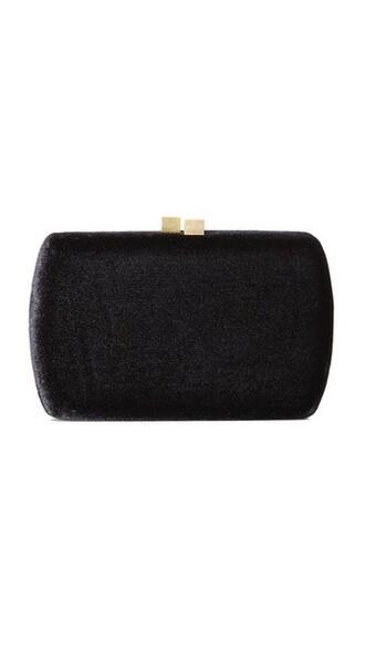 clutch black velvet bag