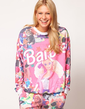 ASOS | ASOS Sweatshirt in Barbie Print at ASOS