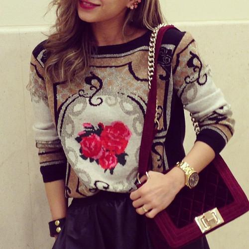Baroque Rose Sweater – Glamzelle