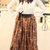 Leopard Print Maxi Skirt /Boho Skirt Maxi/Circle Skirt/Long Skirt Maxi/Bohemian Skirt Maxi/custom made skirt/Fashion/Girl/Women/Skirt
