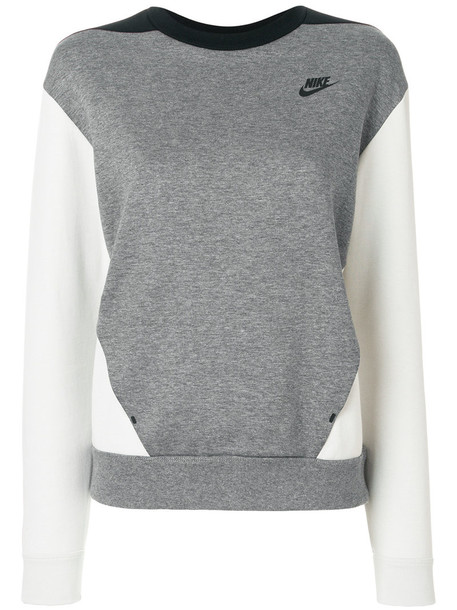 Nike - Tech Fleece sweatshirt - women - Cotton/Polyester - S, Grey, Cotton/Polyester