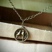 jewels,necklace,love birds,vintage,style,fashion,bronze