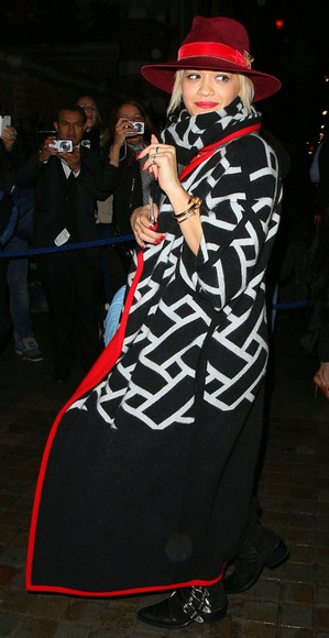 coat fall outfits rita ora