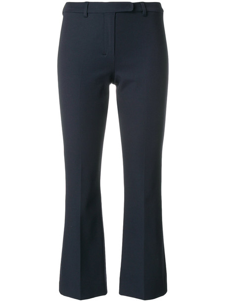 'S Max Mara cropped women spandex cotton blue pants