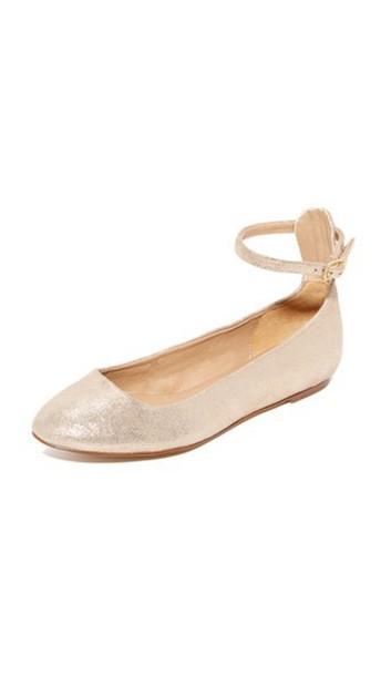 Splendid Lydia Ankle Strap Flats - Champagne