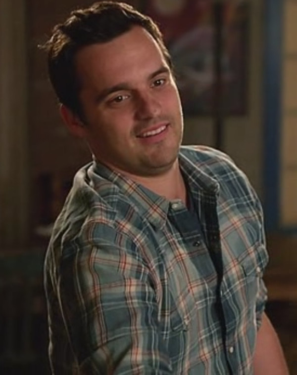 jake johnson new girl mens shirt plaid shirt